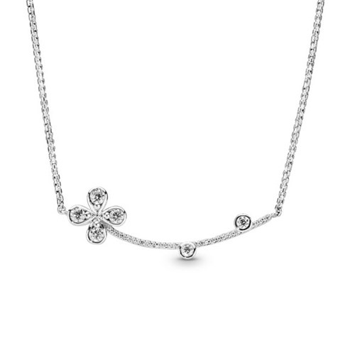PANDORA Four-Petal Flower Necklace 397956CZ-50