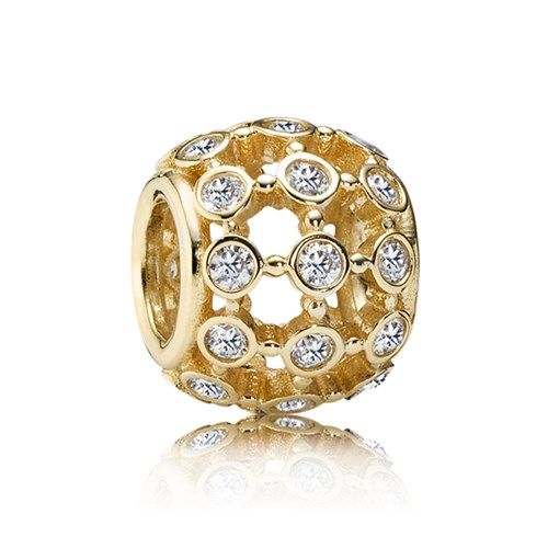 PANDORA 14K In The Spotlight with Clear CZ Charm