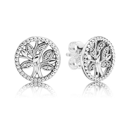 PANDORA Tree of Life Earrings 297843CZ