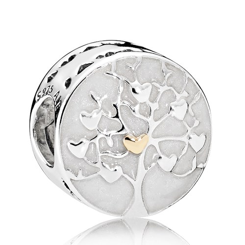 PANDORA Tree of Hearts, Silver Enamel Charm