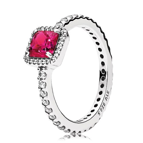 Pandora Timeless Elegance Synthetic Ruby Ring