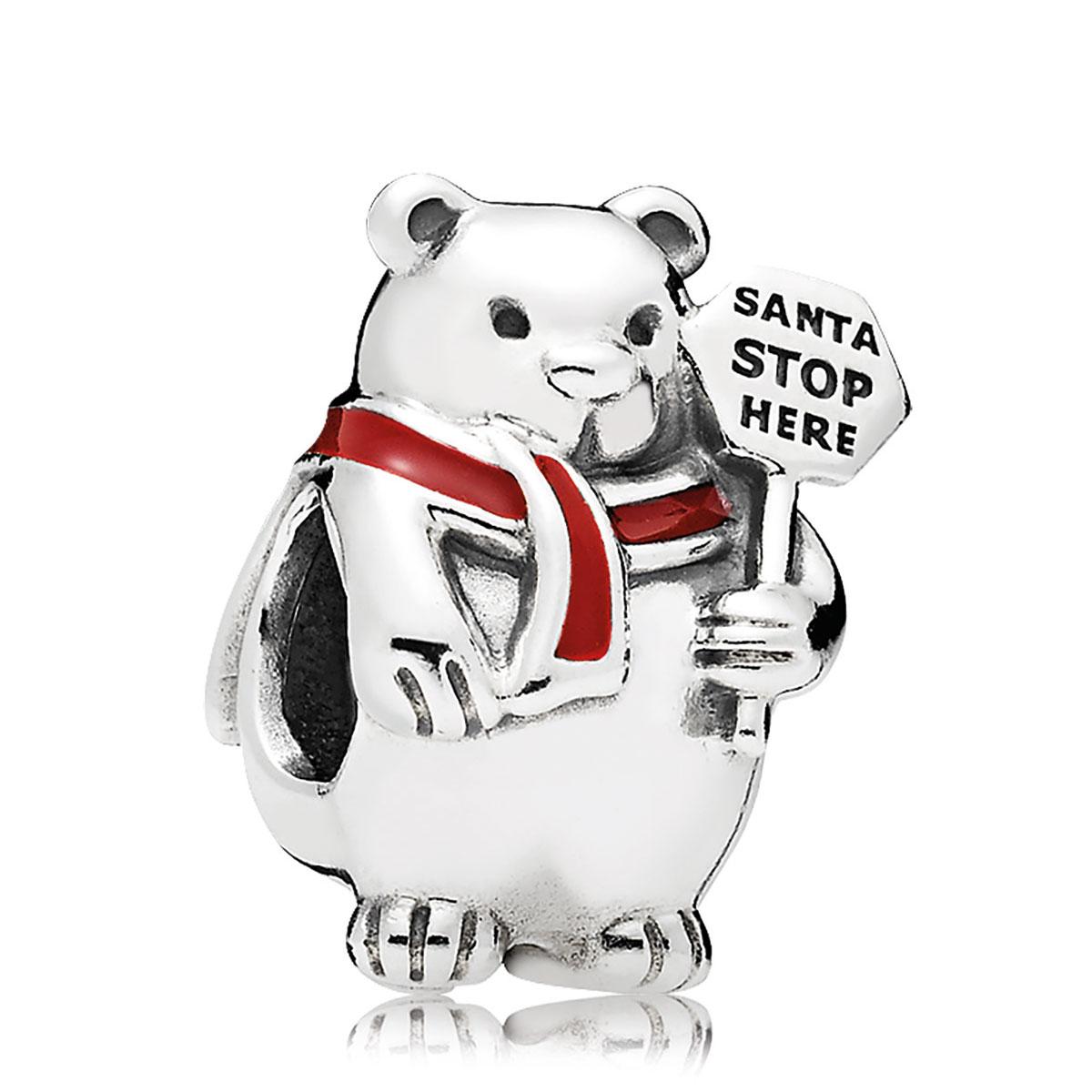 pandora christmas polar bear charm