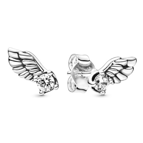Pandora Sparkling Angel Wing Stud Earrings 298501C01