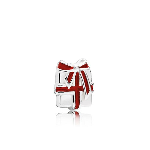 PANDORA Loving Gift Berry Red Enamel CZ Petite Locket Charm 796396EN39