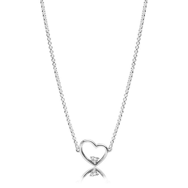 bed9364cc PANDORA Asymmetric Heart of Love Necklace 397797CZ ...