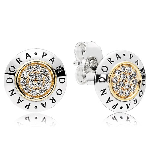 PANDORA Signature CZ Stud Earrings
