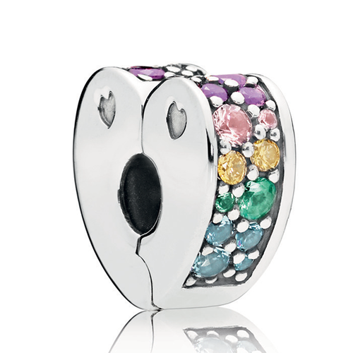 PANDORA Multi-Colored Arc of Love Clip