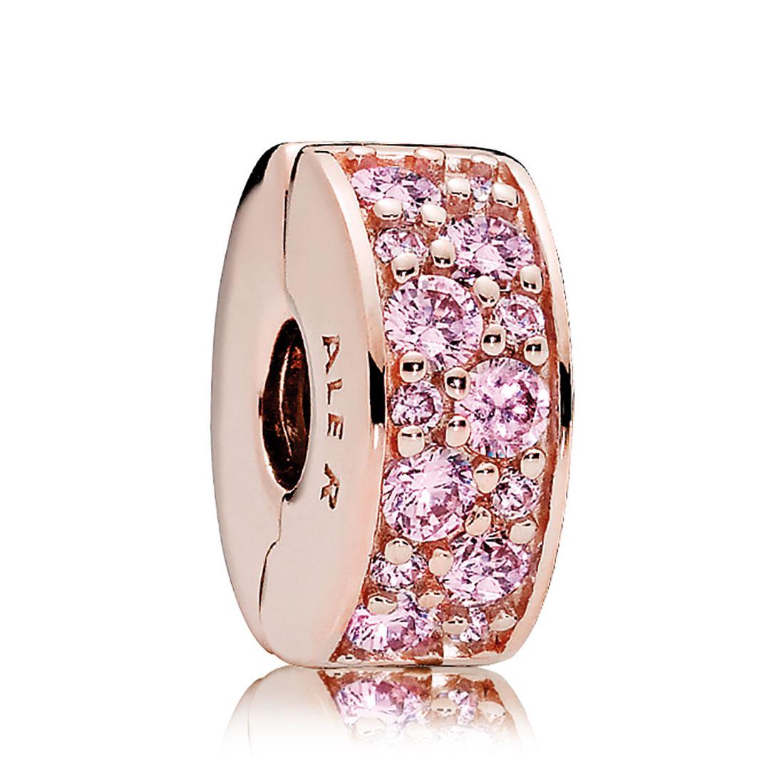 Pandora Rose Gold Pink Cz Shining Elegance Clip