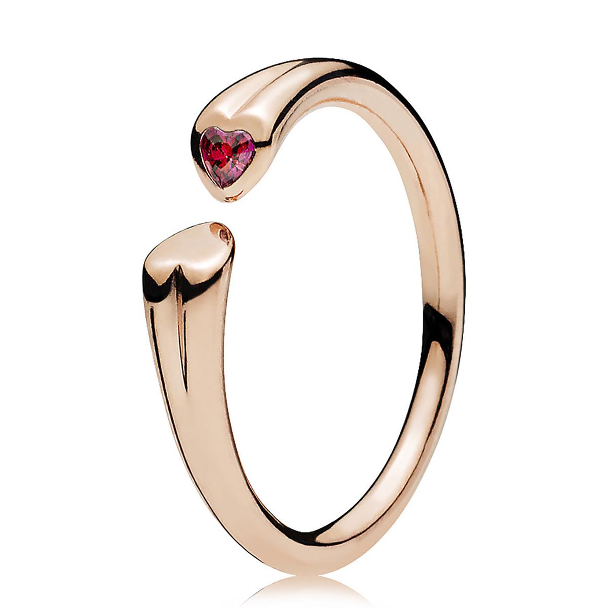 2df9e1dfa PANDORA Rose™ Two Hearts Red CZ Ring ...