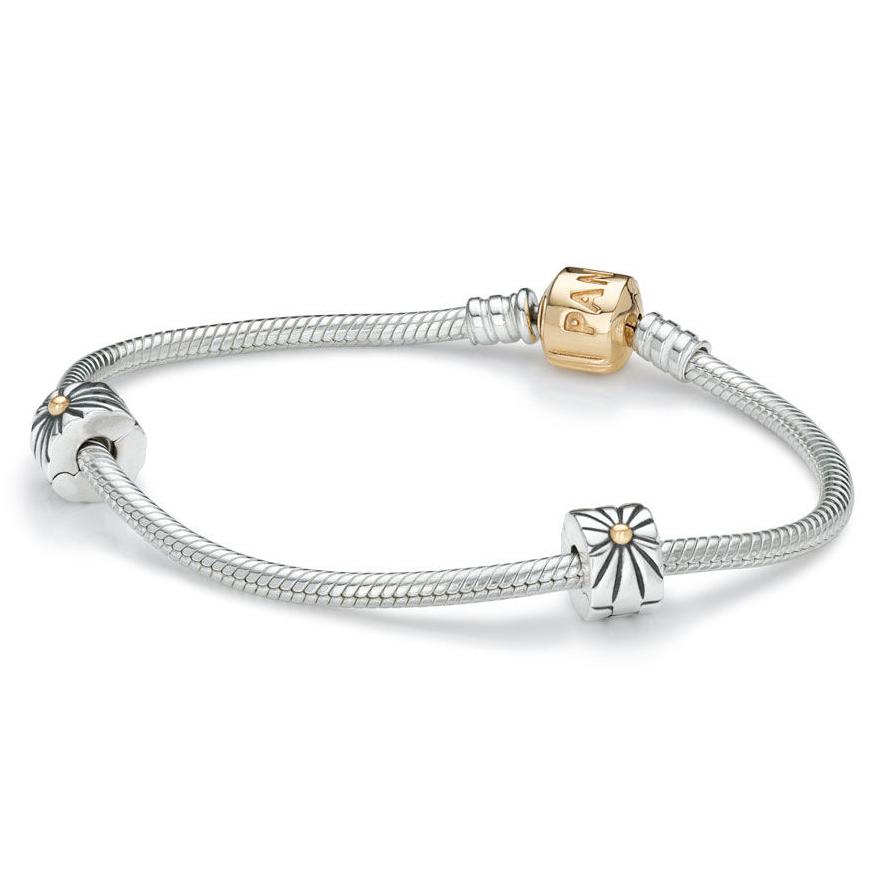 2a599e863 PANDORA Two-Tone Iconic Bracelet Gift Set - Pancharmbracelets.com