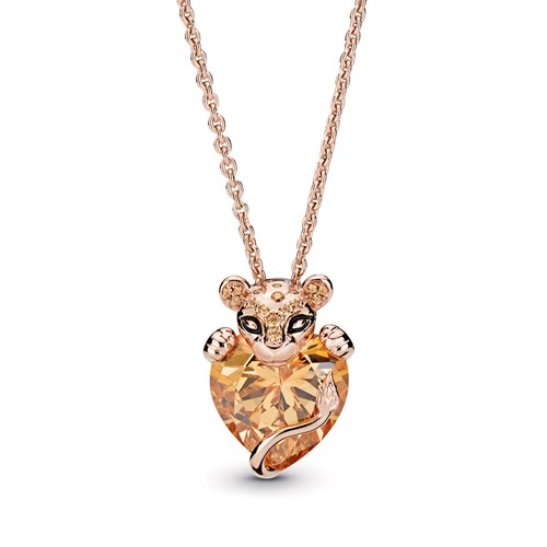 Pandora Rose™ Sparkling Lion Princess Heart Necklace 388068CZM-60