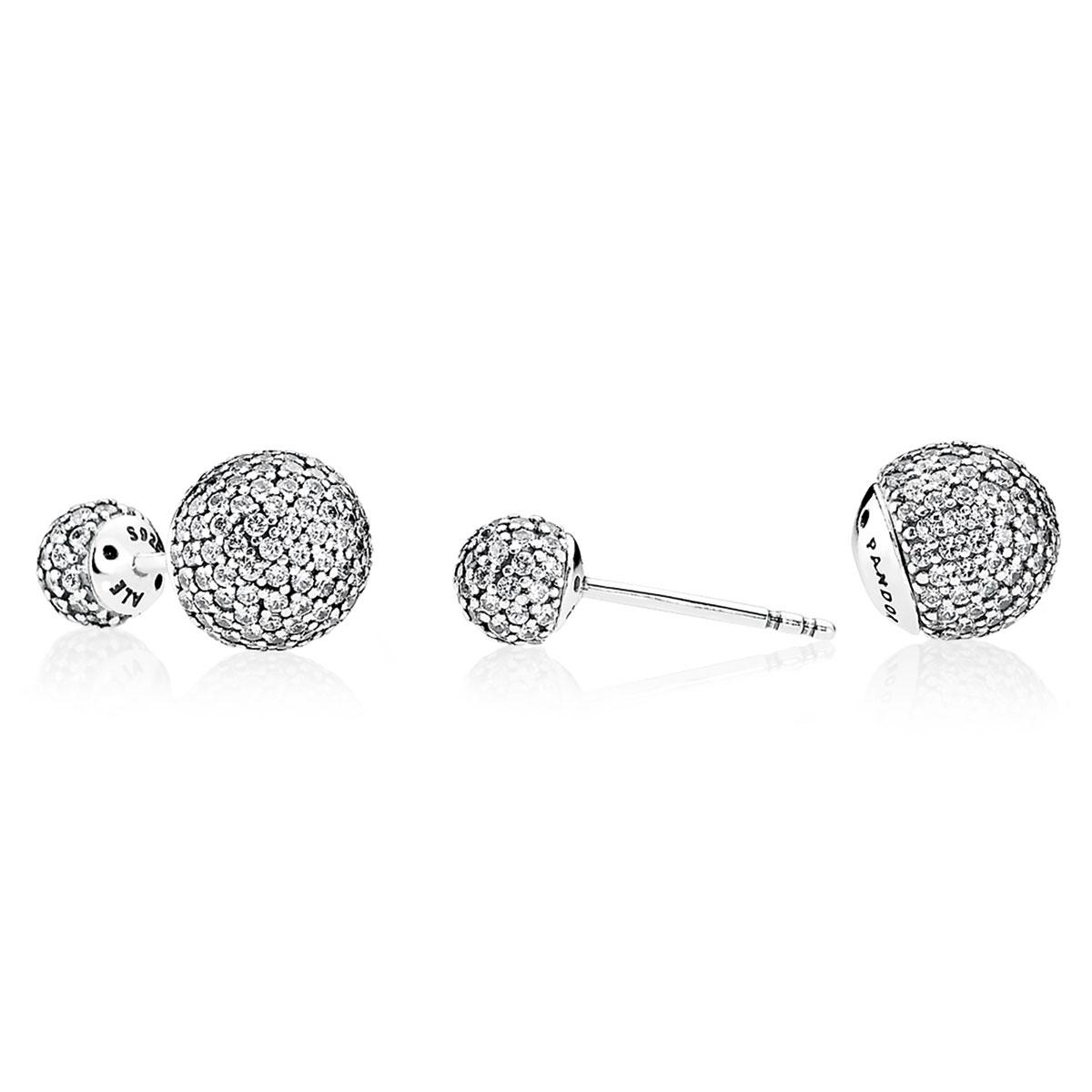 Pandora Pavé Drops Clear Cz Earrings Alt