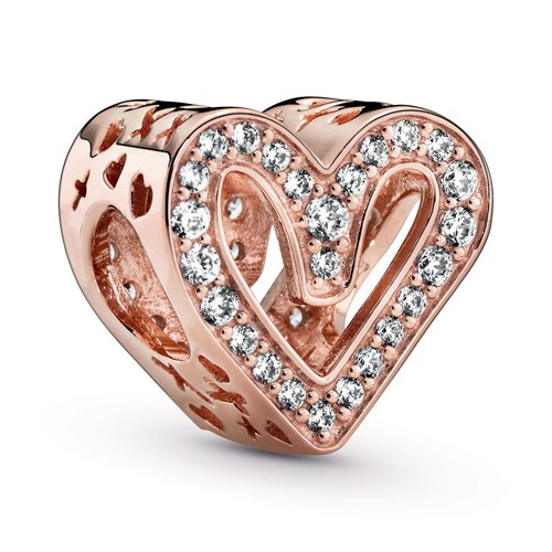 Pandora Rose™ Sparkling Freehand Heart Charm 788692C01