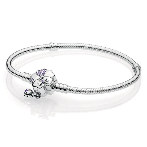 Pandora Wildflower Meadow Clasp Charm Bracelet