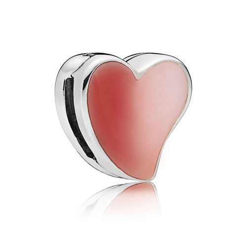 PANDORA Reflexions™ Asymmetric Heart of Love with Enamel Clip 797809ENMX