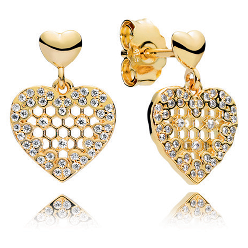 PANDORA Shine™ Honeycomb Lace Dangle Earrings