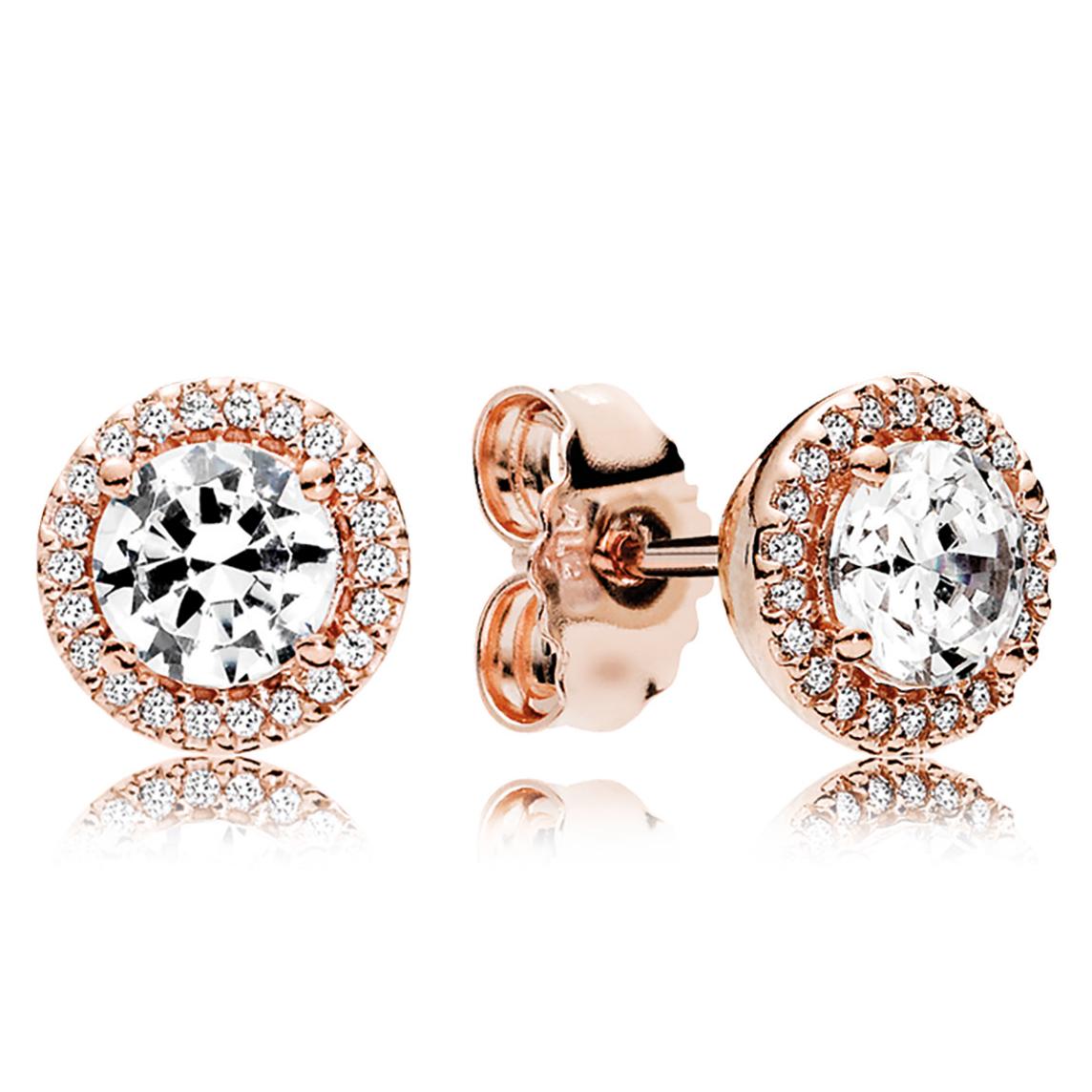Pandora Rose Clic Elegance Stud Earrings