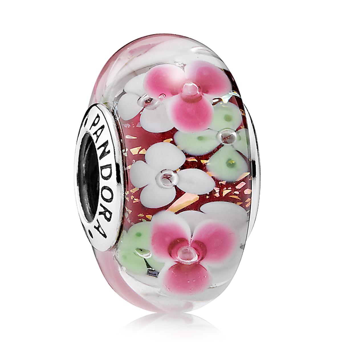 Pandora murano glass charms pancharmbracelets pandora flower garden murano glass izmirmasajfo