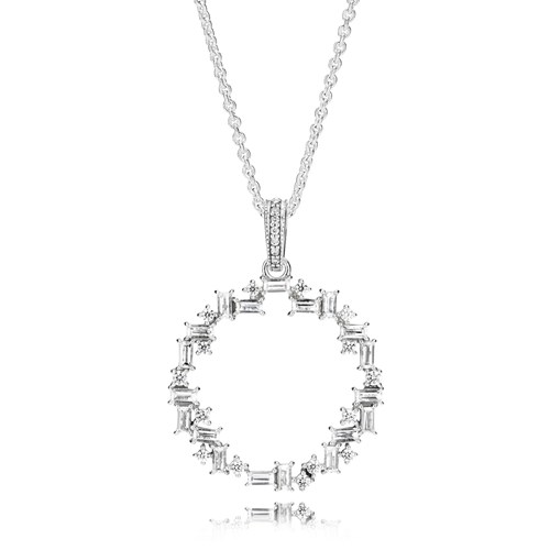 PANDORA Shards of Sparkle Necklace 397546CZ