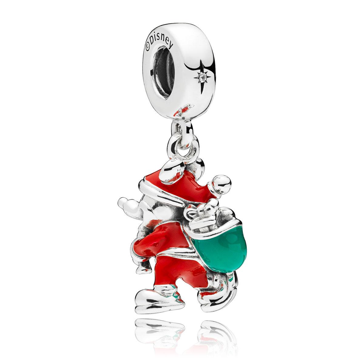 6d8d6e6bdf6 ... PANDORA Disney, Santa Mickey & Gift Bag Dangle Charm 797501ENMX
