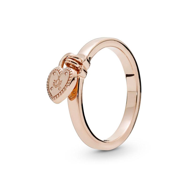 2260bc455 PANDORA Rose™ Love Lock Ring 186571 ...