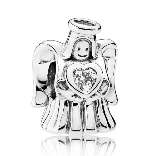 PANDORA Angel of Love Clear CZ Charm