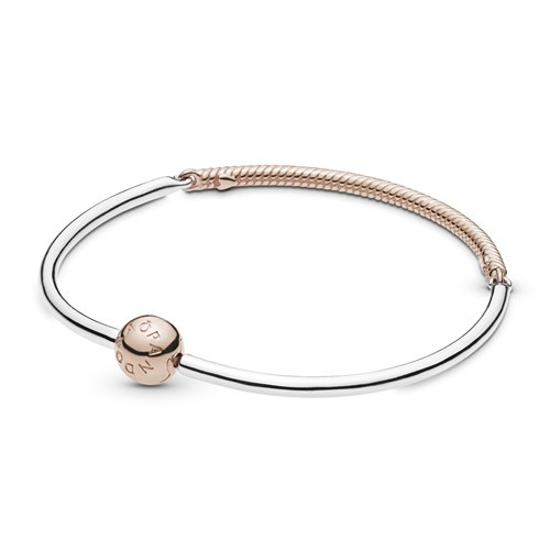 Pandora Rose™ Moments Three-Link Bangle Bracelet 588143