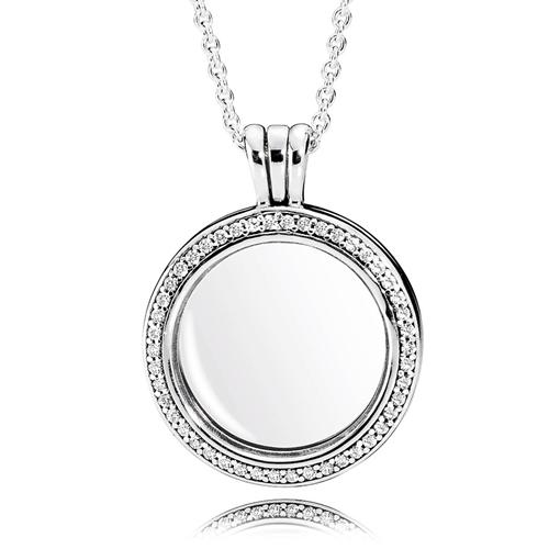 545e6212ca88a PANDORA Medium Sparkling Locket Necklace