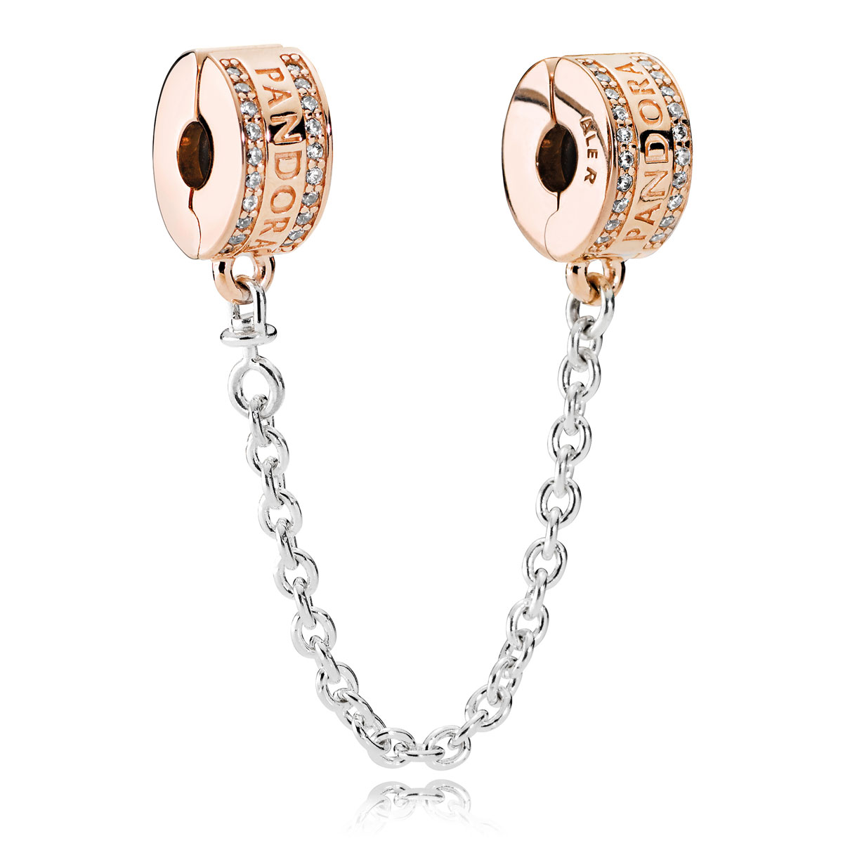 Pandora Rose Insignia Clear Cz Safety Chain