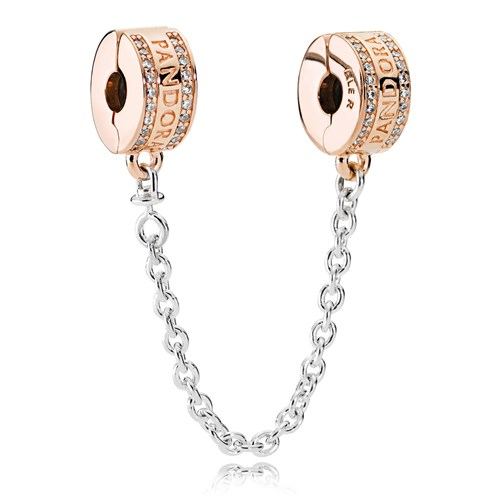 PANDORA Rose™ Insignia, Clear CZ Safety Chain