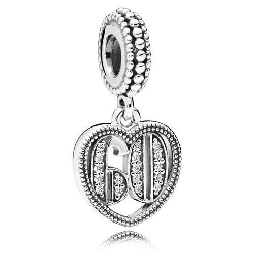 PANDORA 60 Years of Love Dangle Charm 797265CZ