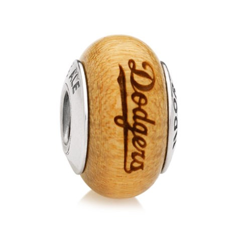 PANDORA Los Angeles Dodgers Baseball Wood Charm