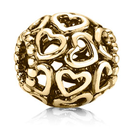 PANDORA 14K Open Your Heart Charm