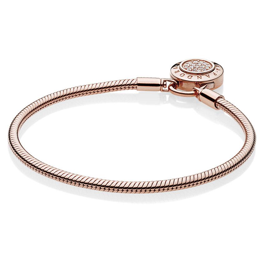 899c71b67 ... PANDORA Rose™ Moments Smooth Signature Padlock Bracelet 587757CZ ...