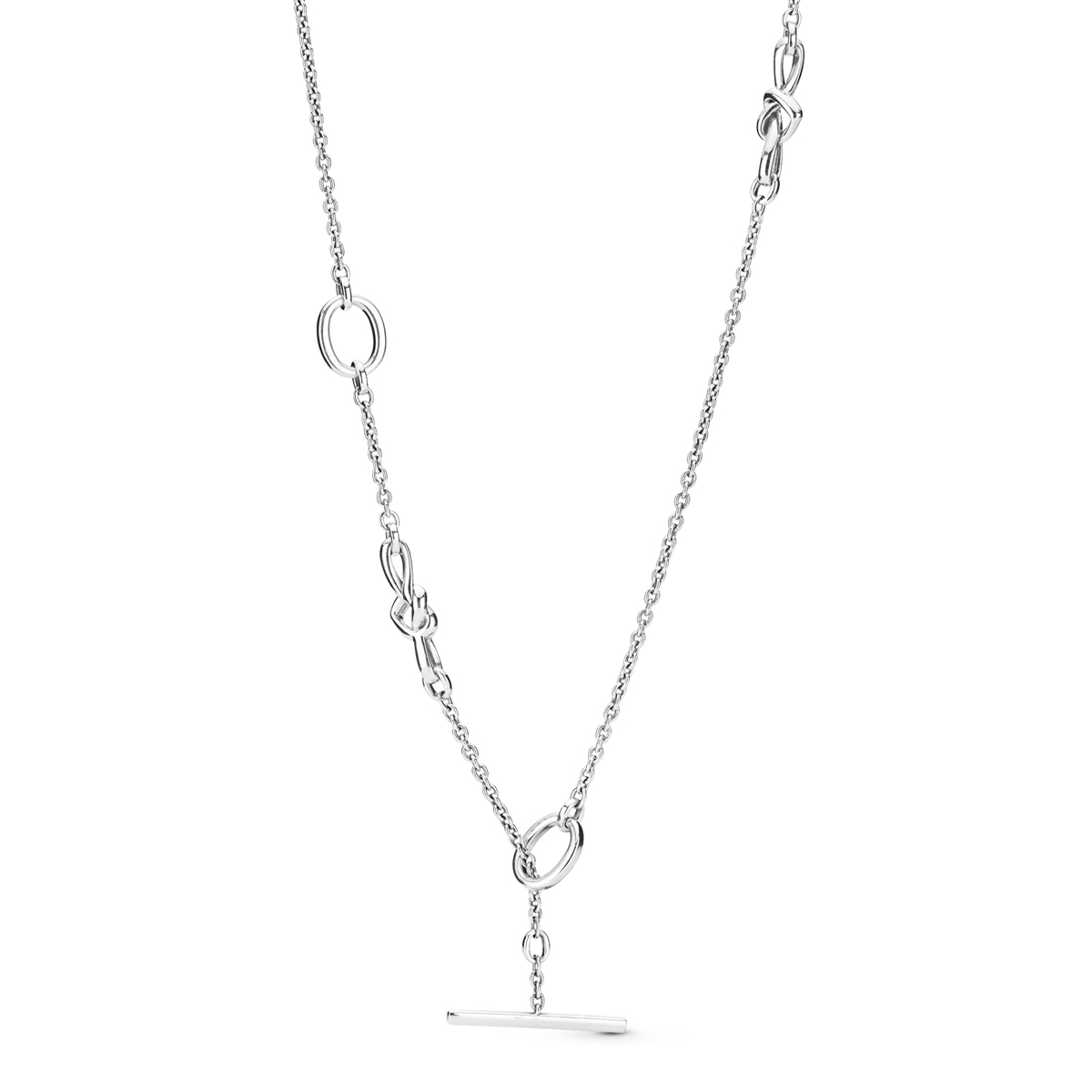 5c609abc5 PANDORA Knotted Heart T-Bar Necklace 398080-90 ...