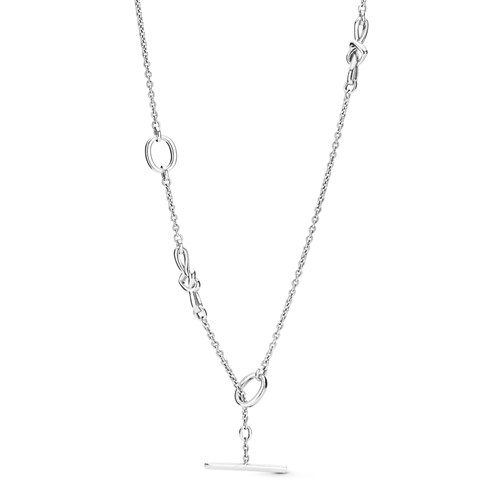 PANDORA Knotted Heart T-Bar Necklace 398080-90