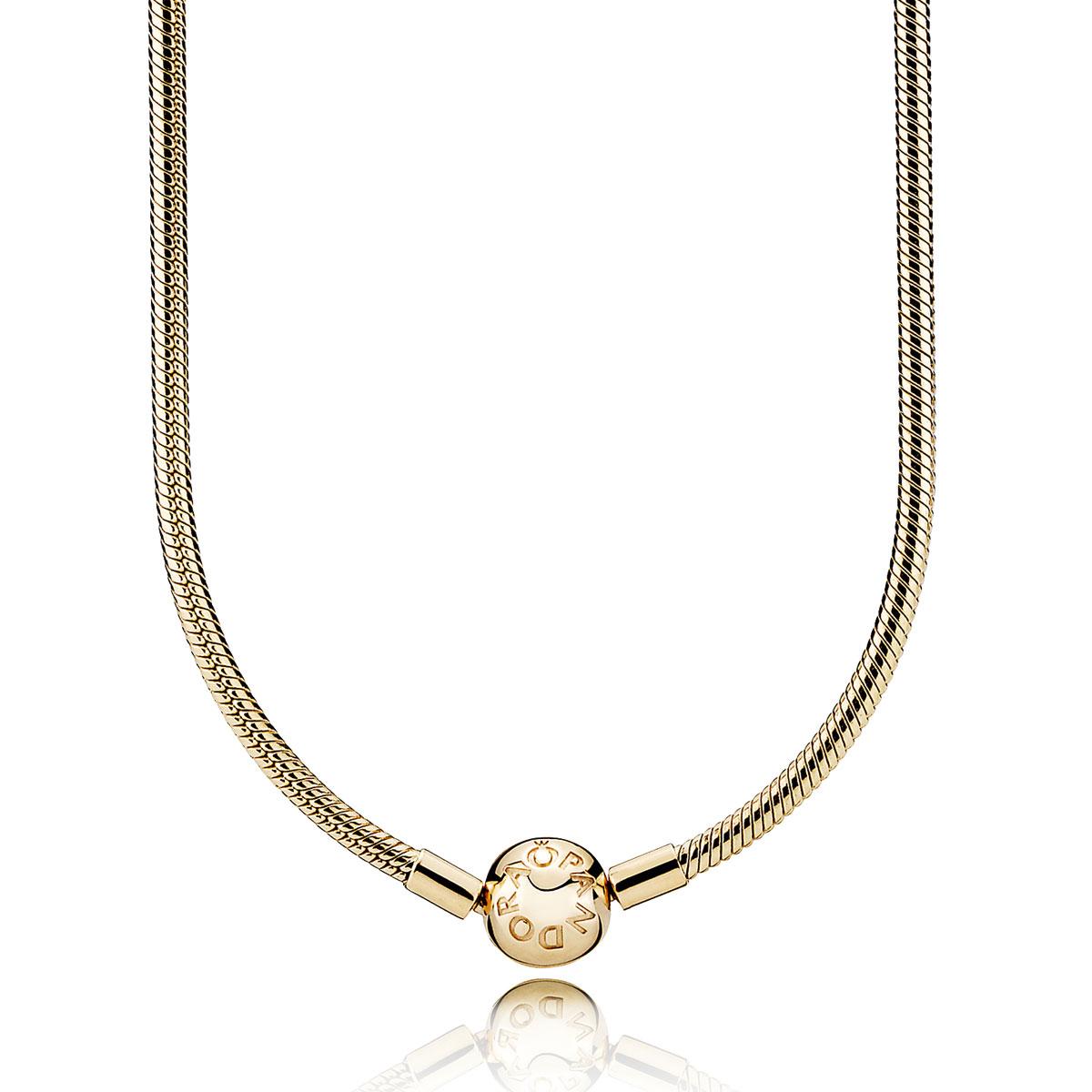 Pandora necklaces pancharmbracelets pandora 14k gold charm necklace clasp aloadofball Gallery