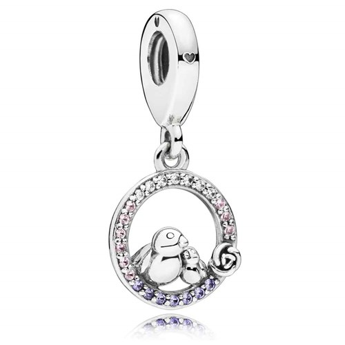 PANDORA Mother & Baby Bird Dangle Charm 797060NPRMX