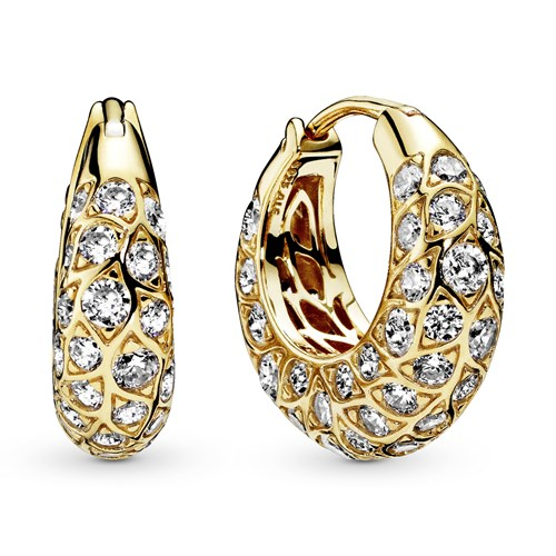 Pandora Shine™ Sparkling Pattern Hoop Earrings 268318CZ
