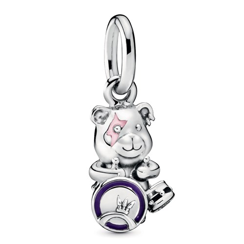 Pandora Theodore Bear Punk Band Dangle Charm 798281ENMX