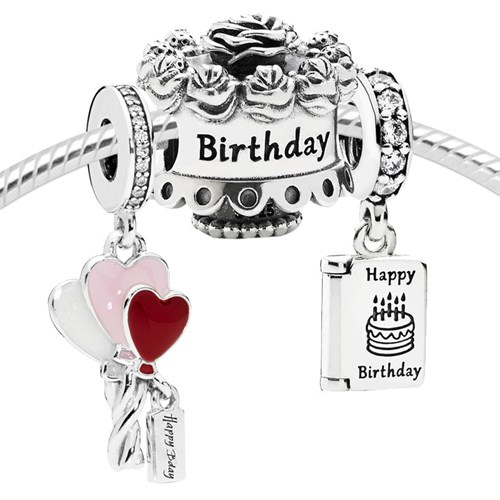Pandora Happy Birthday Gift Charm Set 4005