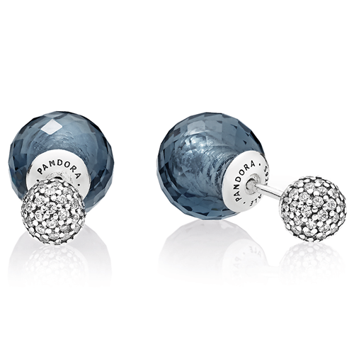 PANDORA Shimmering Drops Midnight Blue Earrings