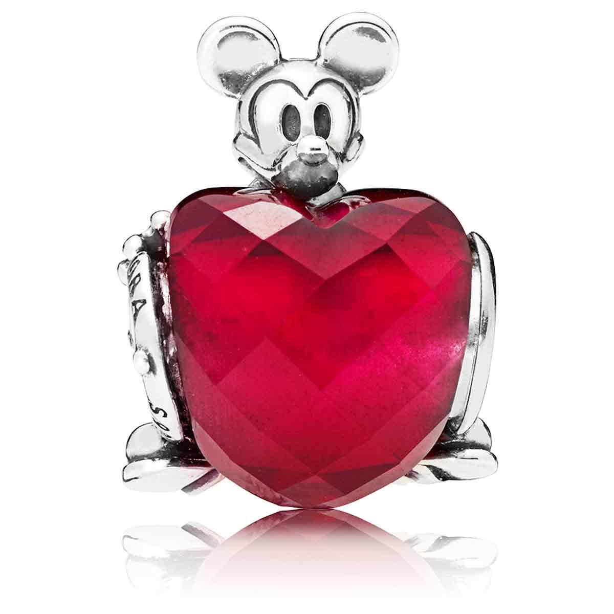 c81939bb2 ... PANDORA Disney, Mickey Love Heart Charm 797168NFR