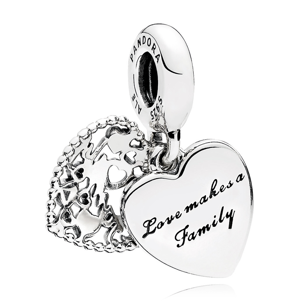 a98ee2277571cf ... PANDORA Love Makes A Family Dangle Charm