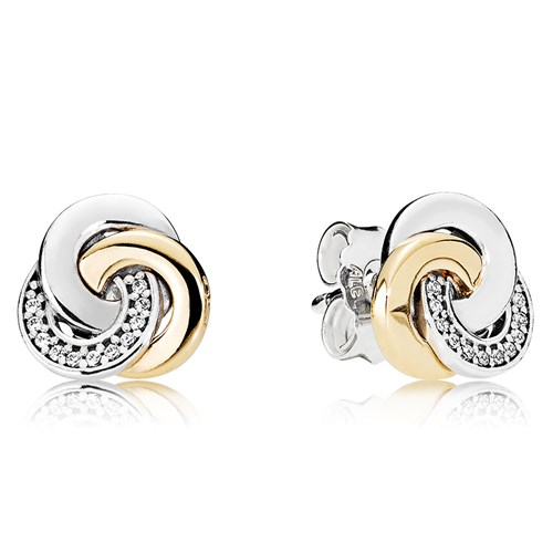 PANDORA Interlinked Circles, Clear CZ Earrings