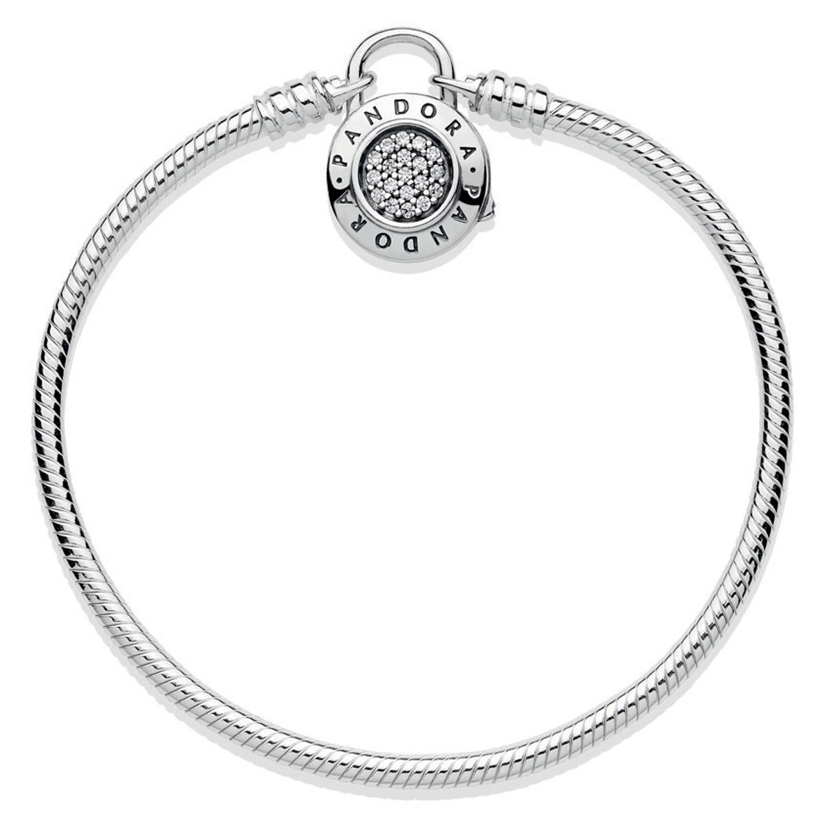 pandora signature padlock clasp charm bracelet pancharmbracelets com