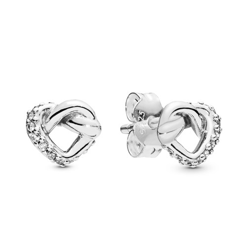 PANDORA Knotted Heart Stud Earrings 298019CZ