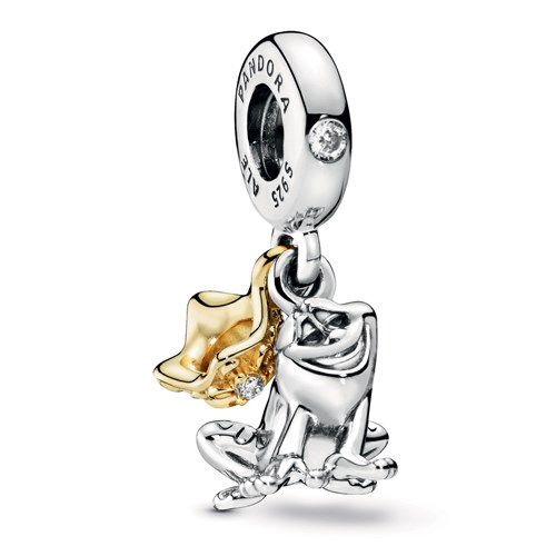 Pandora Disney Princess Tiana Frog Prince Dangle Charm 768235CZ