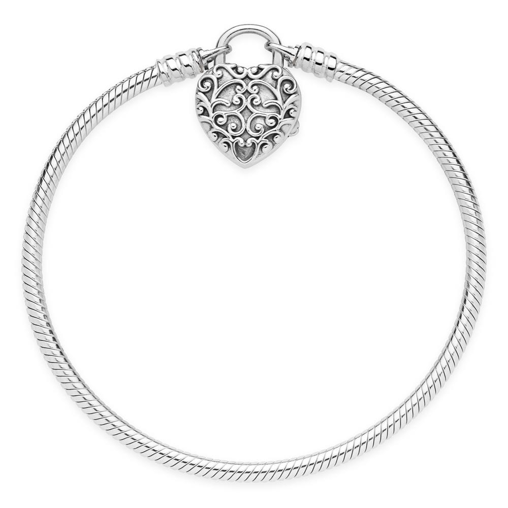 8cbb1e347 PANDORA Regal Heart Smooth Silver Padlock 597602 PANDORA Regal Heart Smooth  Silver Padlock 597602 ...