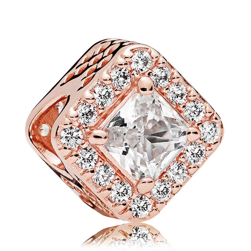 01f5ab30c store pandora rose entwined ring size i cd510 1a96f; shop pandora rose gold  cz geometric radiance charm 9e595 c79a4